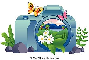 写真撮影, 自然, 概念
