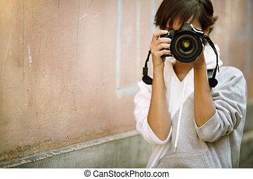 写真撮影, 通り