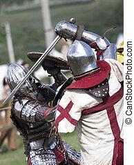 写真, の, 騎士, だれか, 戦い