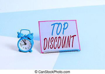 写真, テキスト, 最も良く, 暑い, 概念, 項目, 狂気, セール, promotions., 上, 印, 価格, guaranteed, discount., 提示