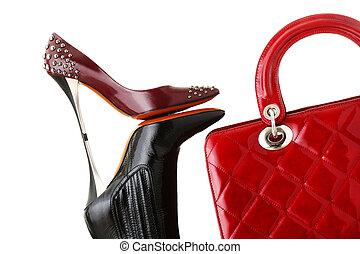 写真, ファッション, 靴, ハンドバッグ