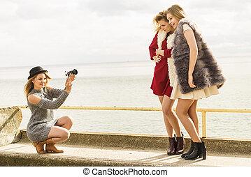 写真, モデル, ファッション新芽