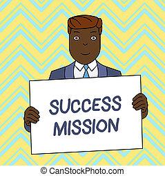 写真, 印, 間違い, される, ブランク, 微笑, 完全, いいえ, 板, 方法, テキスト, mission., 形式的, 保有物, 大きい, 提示, スーツ, ポスター, 概念, 仕事, 仕事, 前部, 作られた男, 成功, 得ること, himself.