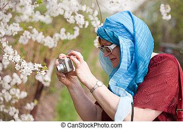 写真, 年長の 女性, 取得