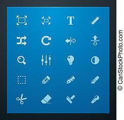 写真, 普遍的, glyphs, セット, 3.