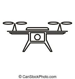 写真, 無人機, ビデオ, アイコン, 空気
