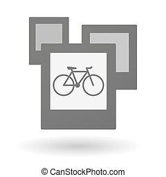 写真, 自転車, グループ, 隔離された