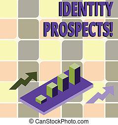 写真, 見通し, arrows., prospects., リード, グラフ, 2, 執筆, 潜在性, テキスト, 概念, 3d, ビジネス, 提示, チャート, 手, 制限された, clustered, アイデンティティー, 顧客, バー, 構成