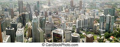 写真, 都市, の, 現代, 建物