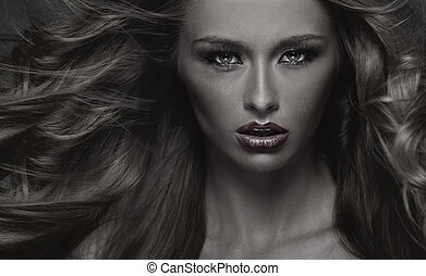 写真, black&white, 女, sensual