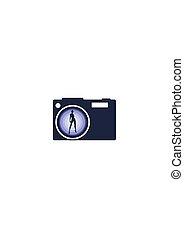 写真, icon., カメラ