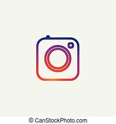 写真, instagram, アイコン, 媒体, カメラ, 社会, アイコン