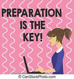 写真, success., 準備しなさい, テキスト, 提示, 印, 準備, key., 学びなさい, 概念, あなた自身, 勉強しなさい, 達成