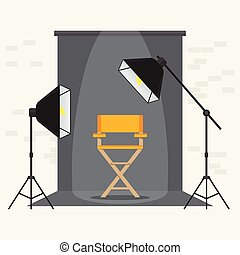 写真, videoporodaction, スタジオ, 黄色の椅子