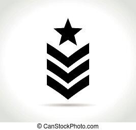 军方, 白的背景, 图标
