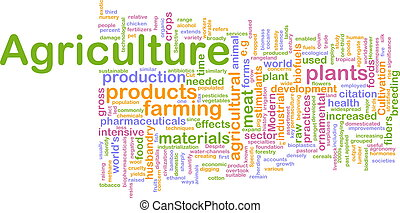 农业, 词汇, 云