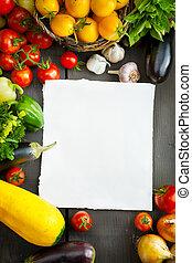 农场新鲜, 蔬菜, 同时,, 水果