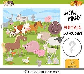 农场, 如何, 游戏, 动物, 许多