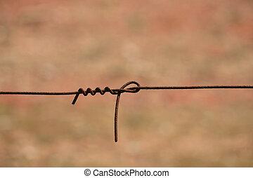 农场, 栅栏, 电线