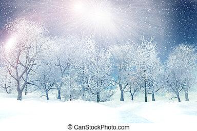 冬の景色, 3d
