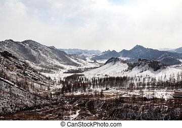 冬の景色, mongolian