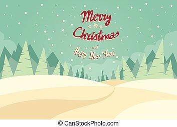 冬ツリー, 雪, 松, 背景, 森林, クリスマス, 風景