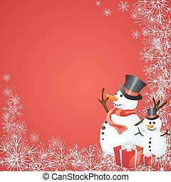 冬場面, -, クリスマスカード