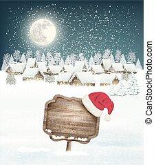 冬天假期, 聖誕節, 背景, 由于, a, 村莊, a, 簽署, 以及, a
