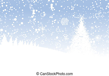 冬天樹, 為, 你, design., 聖誕節, holiday.
