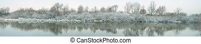 冬天河, 全景