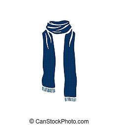 冬天, 剝去, 季節, 圖象, 標識語, 冷, 圍巾
