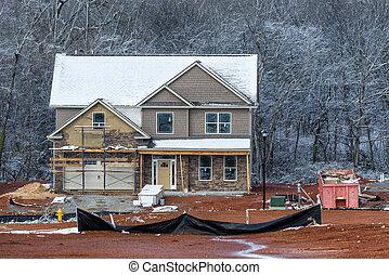 冬天, 家建設