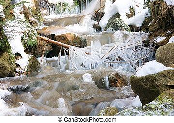 冬天, 小溪