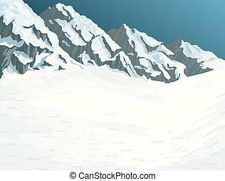 冬天, 山