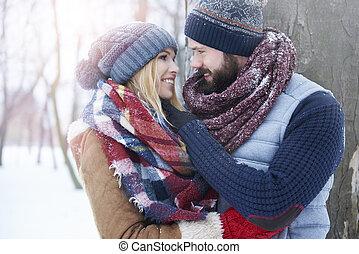 冬天, 愛在空中