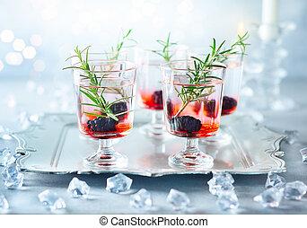 冬天, 漿果, 雞尾酒