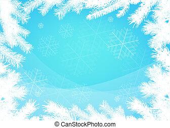 冬天, 聖誕節, 邊框, 背景