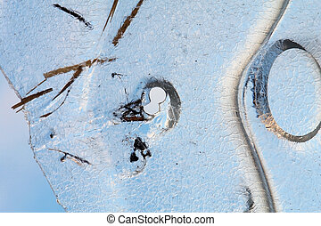 冬天, 雪, 漂流物, 冰, 背景