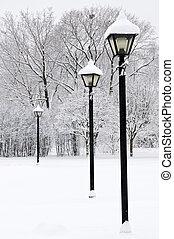 冬季, 公园