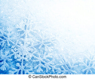 冬季, 雪, 背景。, 雪花