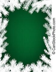 冬, クリスマス, ボーダー, 背景