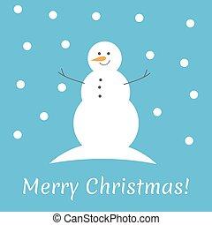 冬, クリスマス, 雪だるま
