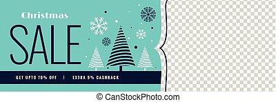 冬, スペース, イメージ, セール, 旗, クリスマス