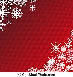 冬, ホリデー, 雪片, カード