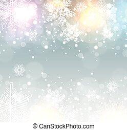 冬, 凍らせられた, 背景
