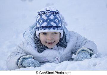 冬, 女の子