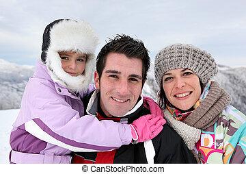 冬, 屋外イベント, 日, 家族