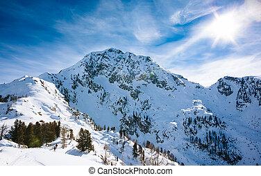 冬, 山の景色