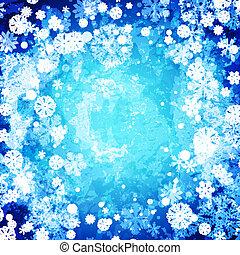 冬, 抽象的, 凍らせられた, 背景
