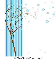 冬, 木。